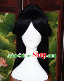 Ancient Chinese Beauty Long Black Wig