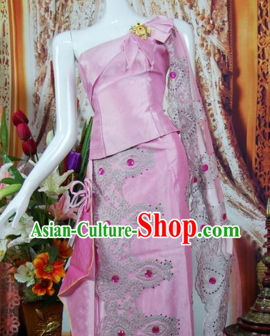 Southeast Asia Traditional Evening Dress for Women