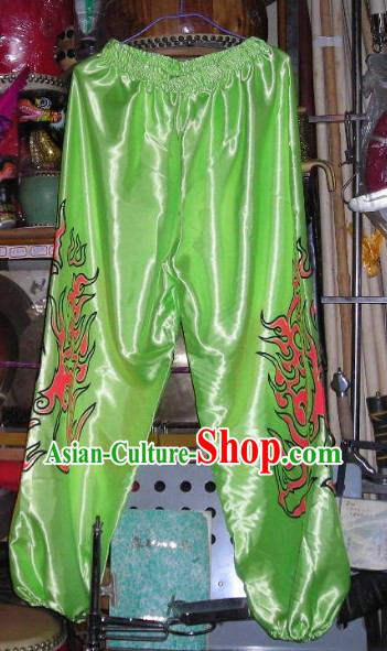 Light Green Professional Competiton and Performance Dragon Dancer and Lion Dance Pants