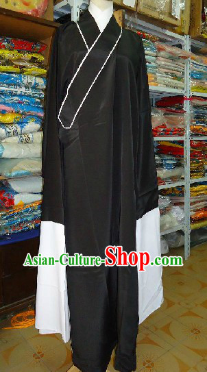 Traditional Chinese Beijing Opera Long Sleeves Black Robe