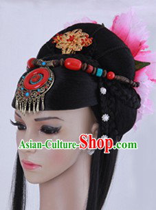 Ancient Chinese Imperial Palace Empress Long Wig and Hair Pieces