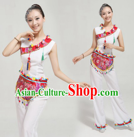 Cantata Dance Group Dance Singing Group Performance Costumes and Headwear Complete Set for Women