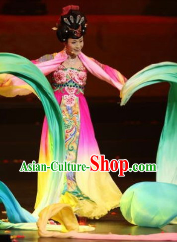 Ancient Chinese Li Yugang Tang Dynasty Empress Clothing and Headpieces Complete Set