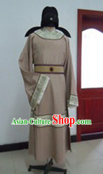 Ancient Chinese Tang Dynasty Male Robe and Hat Complete Set for Men