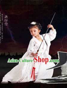 Pure White Dragon Lady Costumes for Kids