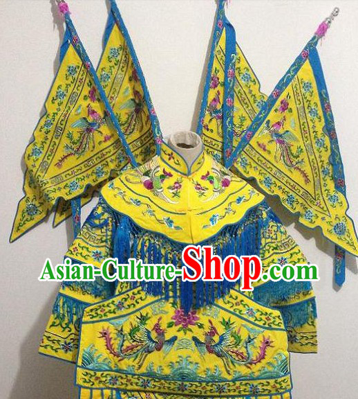 Traditional Chinese Tao Ma Tan Female Warrior Role Armor Costume