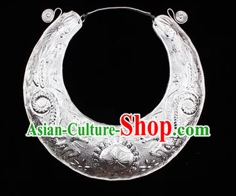 Traditional Miao Silver Dragon Necklace