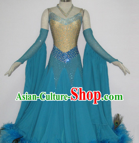 Special Custom Taiored Recital and Competition Feather Modern Dance Costumes