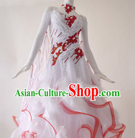 Special Custom Make Waltz Dancing Competition Costume for Women