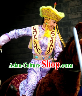 Hua Mulan Legend Mongolian Tribe Princess Clothes Complete Set for Women