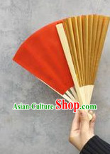 Professional Double Sides Red Gold Dance Fan for Adults and Children