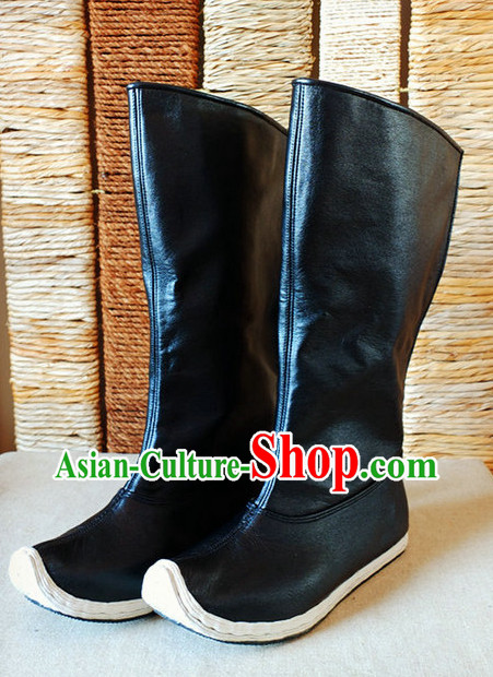 Handmade Ancient Chinese Hanfu Style Black Boots