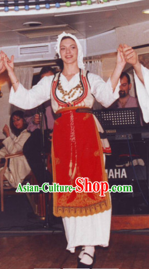 Traditional Greek Dance Costumes Shop Female Complete Set
