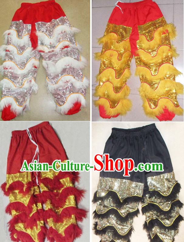 Professional Silk and Wool Lion Dancer Pants