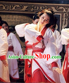 Chinese Classical Dancing Female Costume Complete Set
