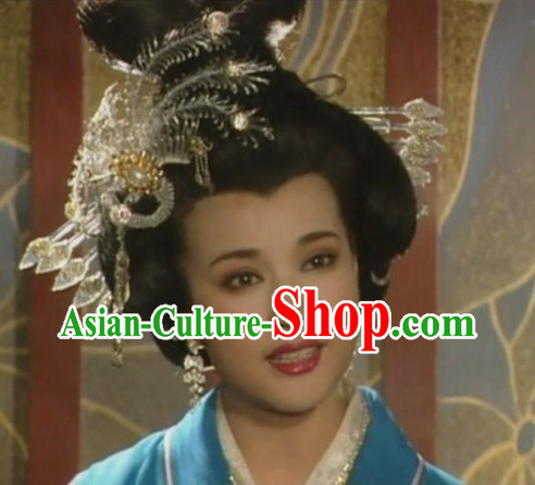 Ancient Chinese Tang Dynasty Imperial Palace Empress Wig and Hair Accessories