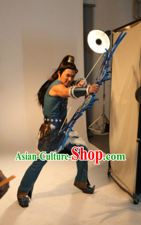 Ancient China General Warrior Armor Cosplay Costumes for Men