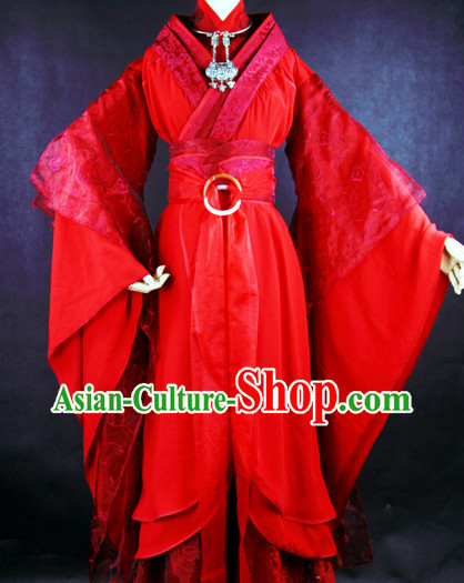 China Lucky Red Wedding Dress Full Set China online Shopping