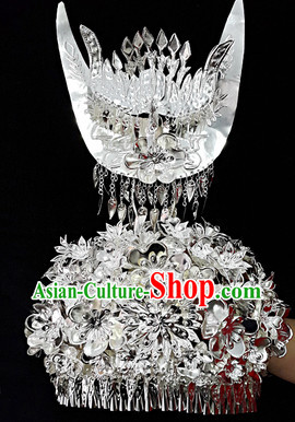 China Guizhou Province Ethnic Minority Miao Silver Hat