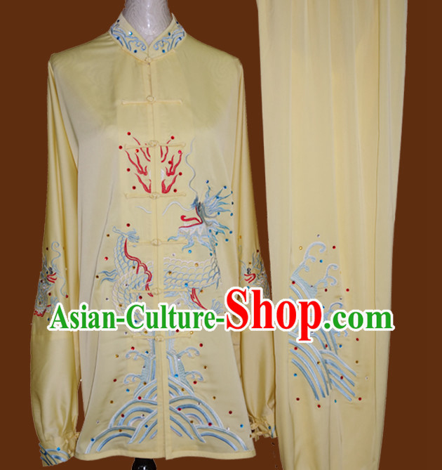 Kung Fu Dragon Embroidery Costumes Training Kung Fu Costume Kung Fu Class Kung Fu Equipment Clothing