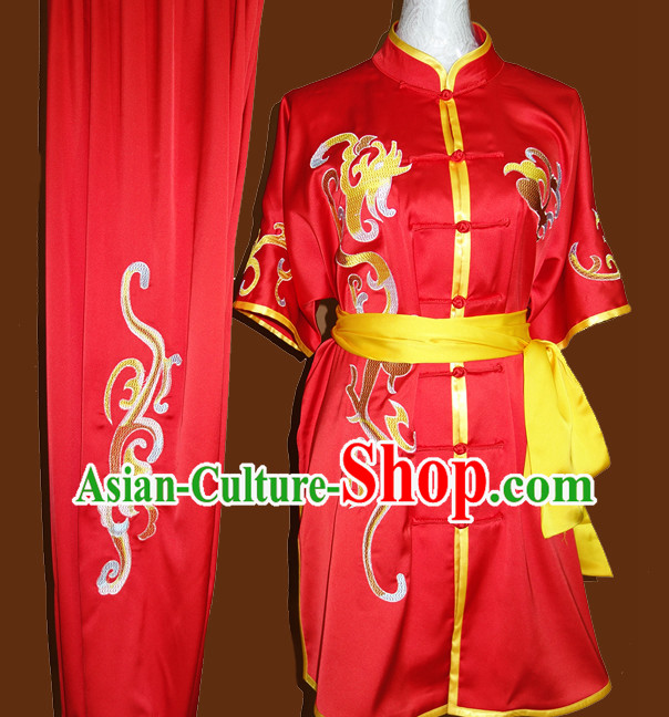 Top Wing Chun Kung Fu Wooden Dummy Practice Uniforms