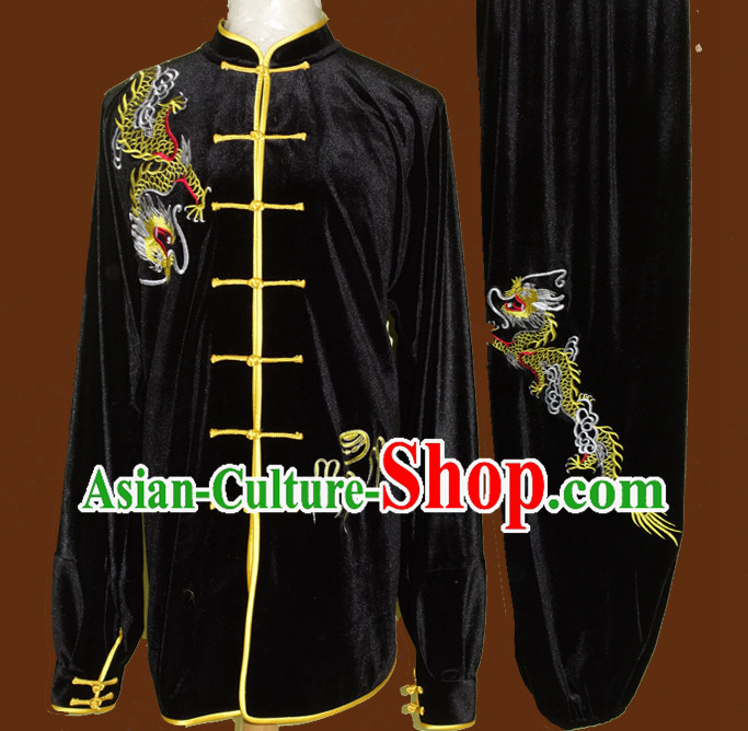Winter Wear Velvet Wing Chun Kung Fu Wooden Dummy Practice Clothes