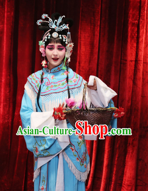 China Opera Lin Daiyu Stage Costumse and Headwear for Women.