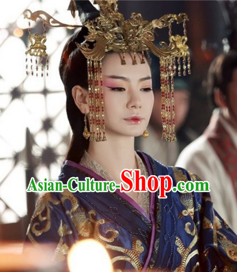 Top Chinese Empress Hair Accessories Headpieces Hair Combs Jewellery Complete Set