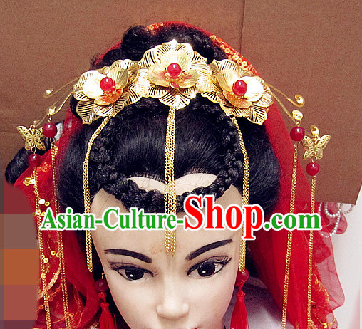 Top Chinese Bridal Hair Accessories Headpieces Hair Combs Jewellery Complete Set