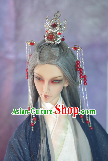 Chinese Traditional Long Wig and Accessories Updo Wigs Lace Front Wigs Geisha Wig Chinese Wigs