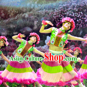 China Shop Chinese Flower Dance Attire for Women