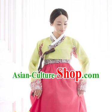 Korean Women Fashion Traditional Hanbok Wedding Dress Complete Set