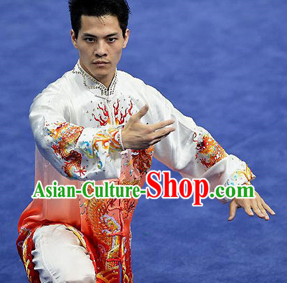 Top Asian Chinese Male Tai Chi Qi Gong Yoga Uniform