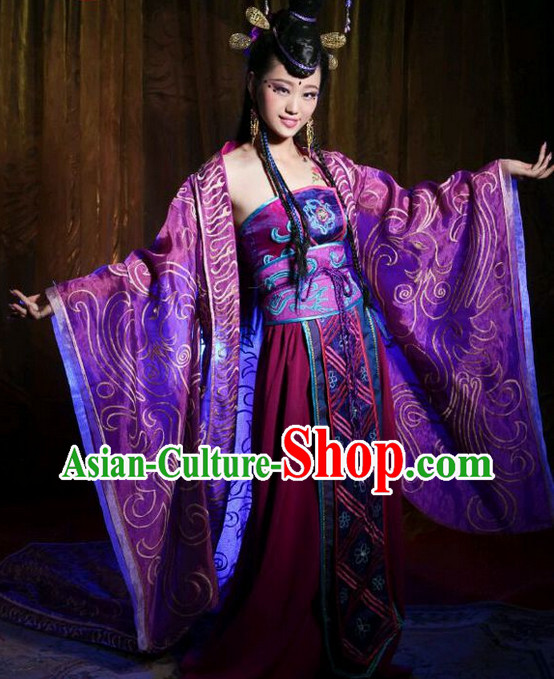Chinese Empress Costumes Asian Fashion and Hair Jewelry Wig