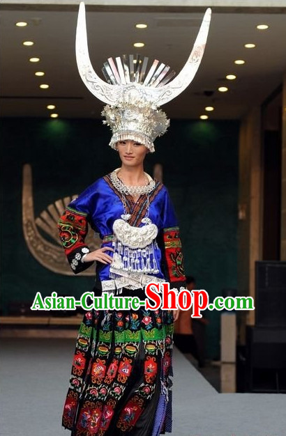 Oriental Clothing Chinese Traditional Miao Tribe Ethnic Clothing in China for Men