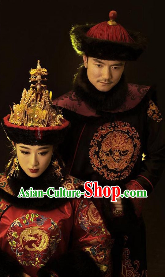 Chinese empress costumes qing dynasty manchu costume