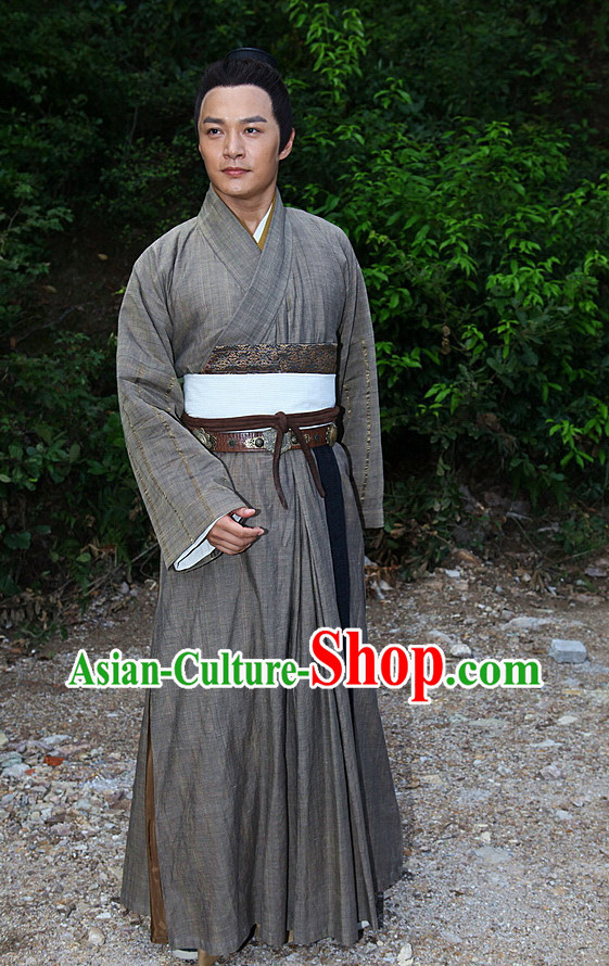 Chinese  Hero Guo Jing Costumes Complete Set for Men