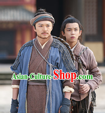 Chinese Superhero Guo Jing TV Series Costumes Complete Set for Men