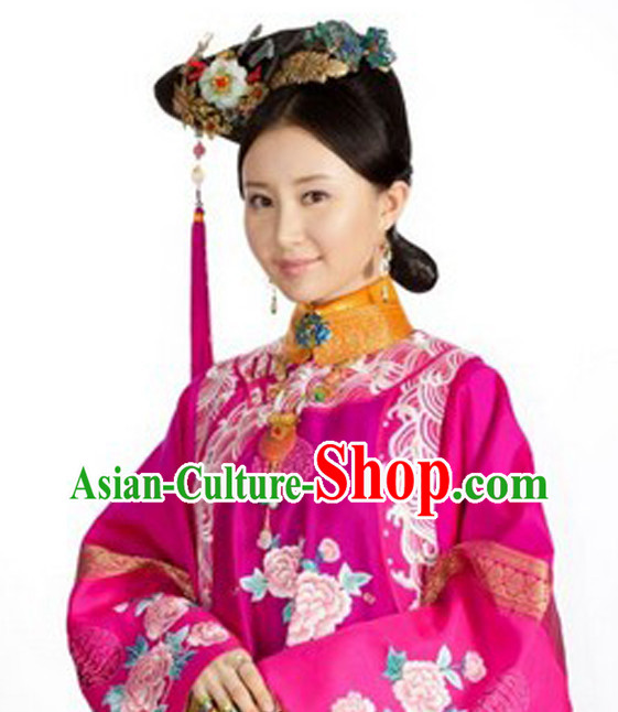 Chinese Ancient Hair Accessory and Black Wig