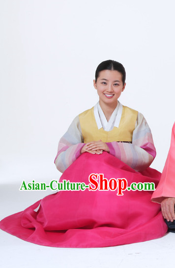 Traditional Korean Fashion Style Mother Clothes Complete Set