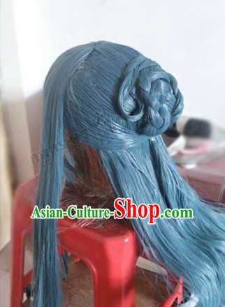 Custom Made According to Your Picture Asian Chinese Ancient Traditional Male Long Wig and Hair Jewelry
