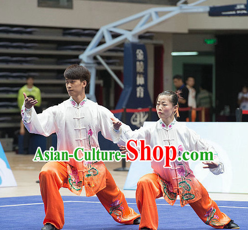 Top Tai Chi Costumes Taijiquan Costume Aikido Chikung Tichi Uniforms Quigong Uniform Thaichi Martial Art Qi Gong Combat Clothing Competition Uniforms for Men or Women