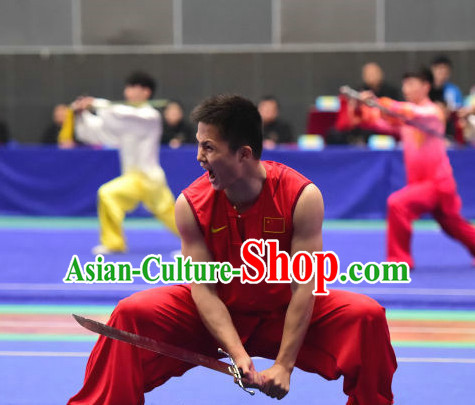 3804f736f Top Chinese Southern Fist Wu Shu Kung Fu Sword Uniforms Kungfu Uniform  Martial Arts Competition Costumes