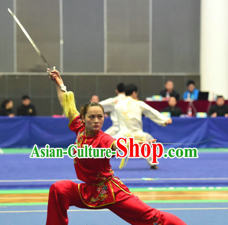 Top Chinese Kungfu kung Fu Costume Kung Fu Combat Costumes Wing Chun Karate Uniform Kung Fu Competition Suit Martial Arts Costumes