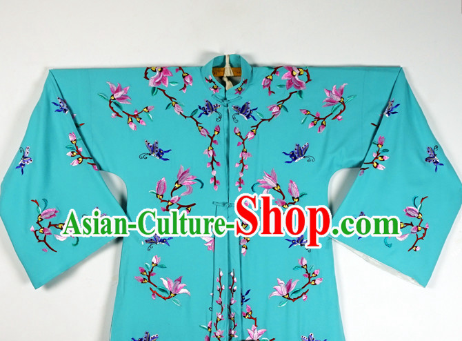 Chinese Beijing Opera Costumes Peking Opera Hua Tan Embroidered Flower Long Robe for Women