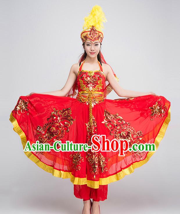045b8a447 Chinese Xinjiang Dance Costumes Girls Dancewear Dance Costume for ...