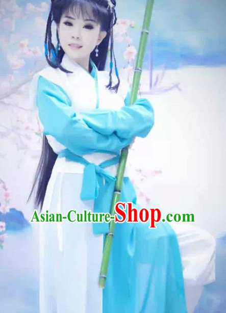 Tradiitonal Chinese Female Heroine Costumes Complete Set