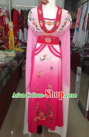 Long Sleeve Chinese Opera Embroidered Robe Costume Complete Set