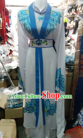 Asian Chinese Traditional Dress Theatrical Costumes Ancient Chinese Clothing China Nun Costumes for Women