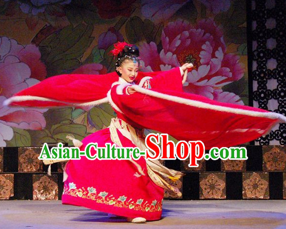 Asian Chinese Traditional Dress Theatrical Costumes Ancient Chinese Clothing Opera Wide Sleeves Classical Costumes